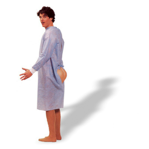 Hindsight Patient Gown w/Butt Adult Costume