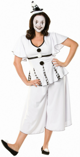 Gigi the Pierrot Adult Plus Costume