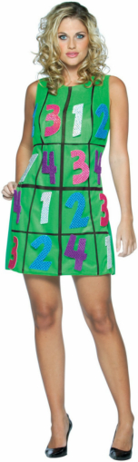 Sudoku Game Dress Adult Costume