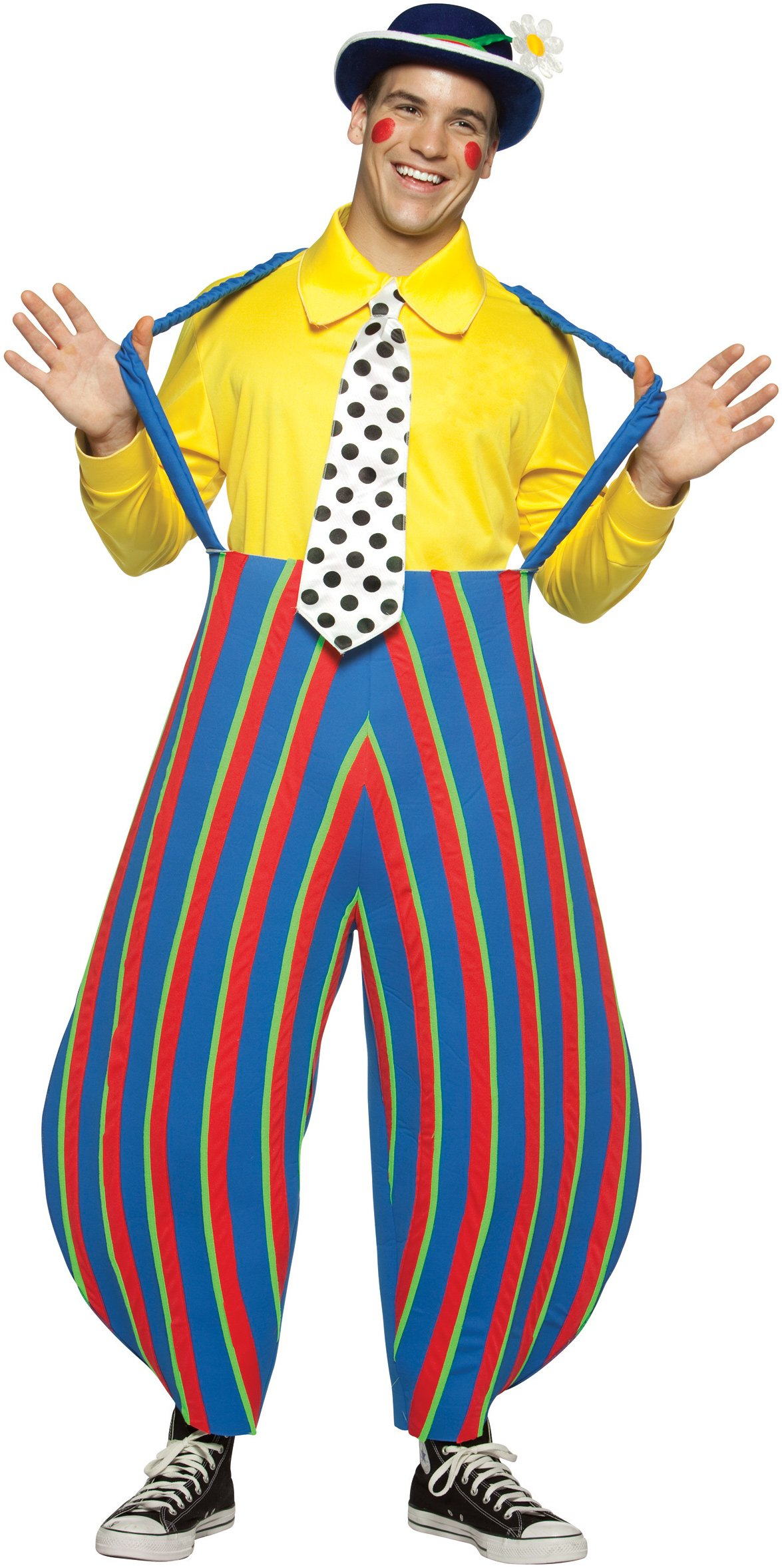 Stripey the Clown Adult Circus Costume