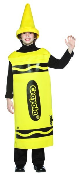 Yellow Crayola Crayon Costume