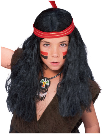 Boys Native American Wig