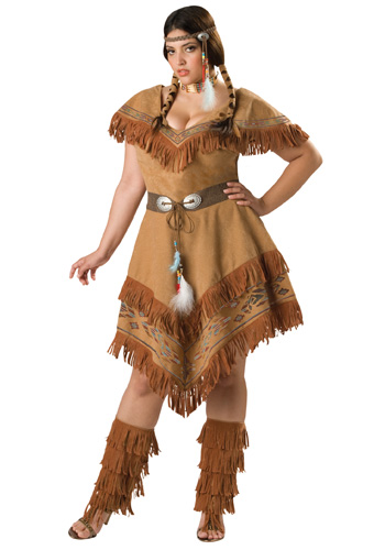 Plus Size Tribal Native Costume