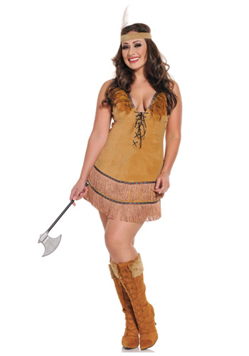 Plus Size Sexy Native American Costume