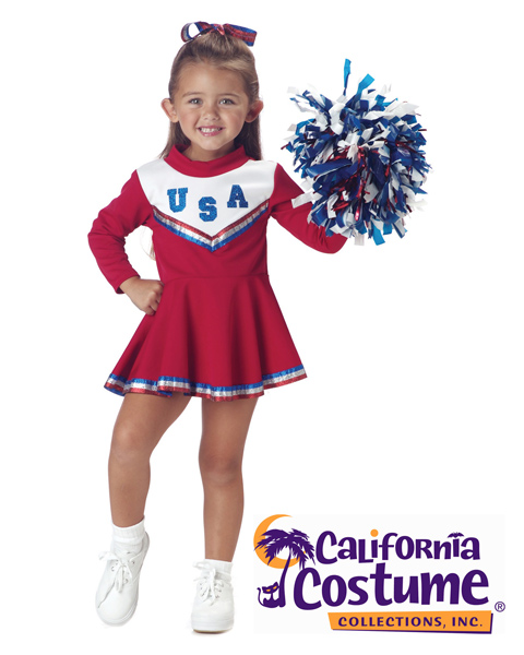 Patriotic Cheerleader Costume for Toddler