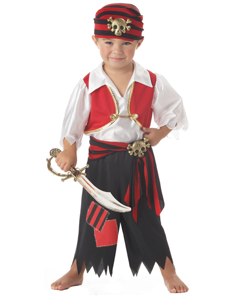 Boy Toddler Ahoy Matey Pirate Costume