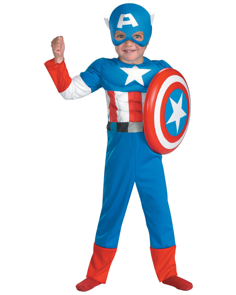Toddler Captain America Muscle Costume - Click Image to Close