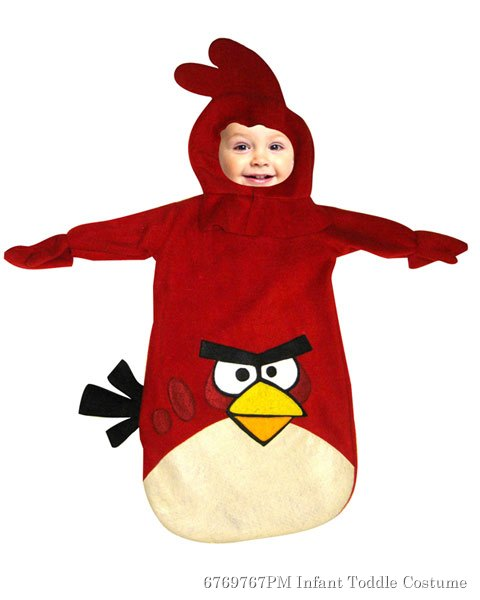 Red Infant Angry Bird Bunting Costume