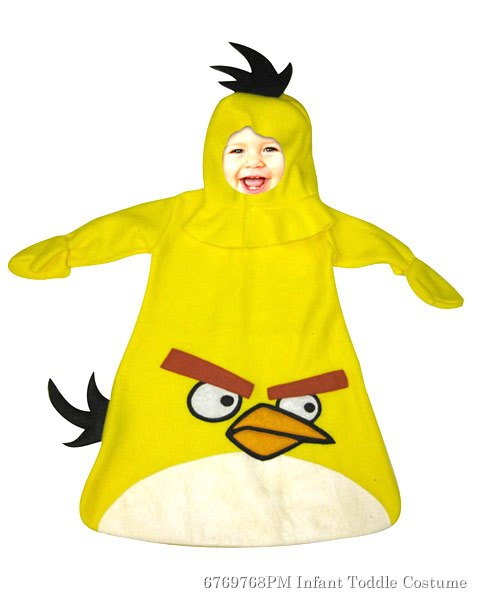 Infants Angry Birds Yellow Angry Bird Bunting Costume
