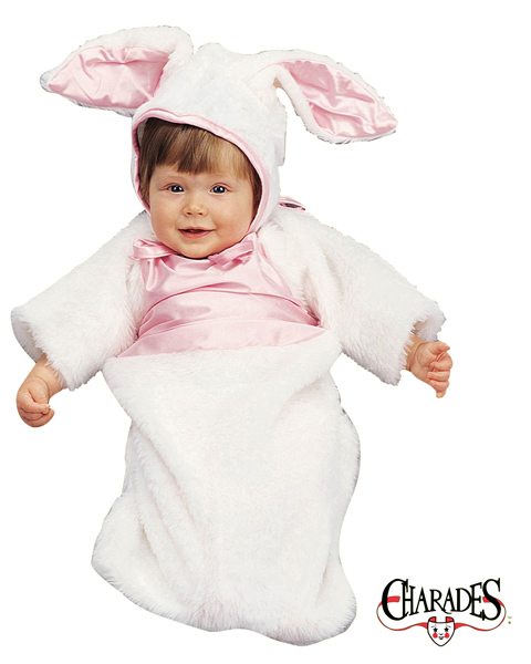 Plush Bunny Bunting Costume for Newborn Infant