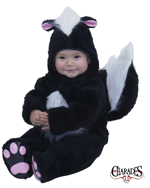 Velvet Panne Skunk Costume for Infant