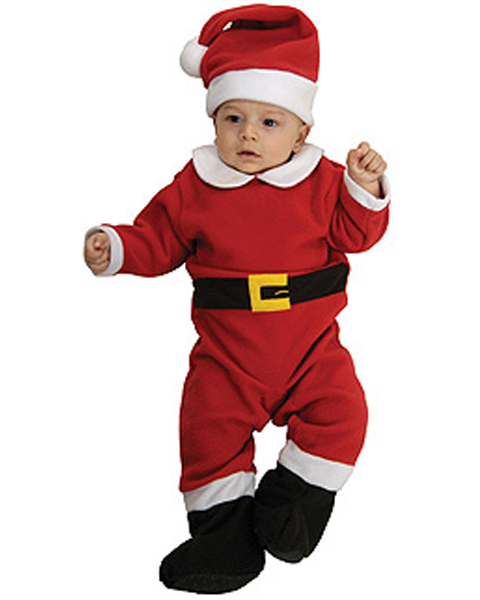 Velvet Santa Costume for Newborn Infant