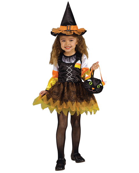 Toddler Lil Candy Corn Witch Costume