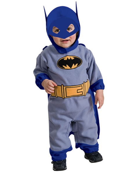 Infant Blue and Gray Batman Romper Costume