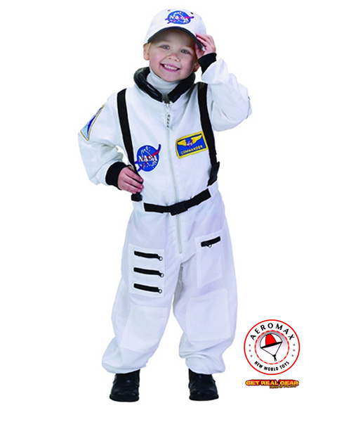 White Jr Astronaut Suit Costume for Toddler