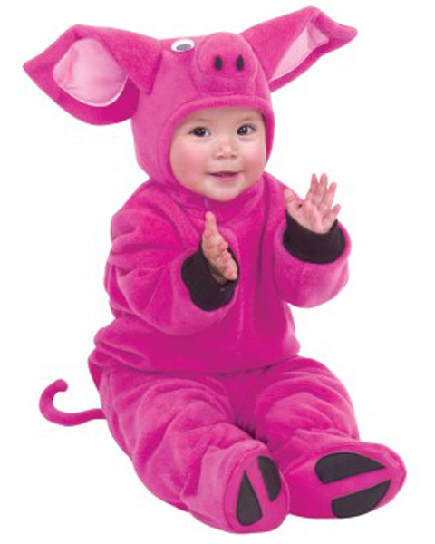 Microfiber Fleece Little Pig Newborn Costume for Infant