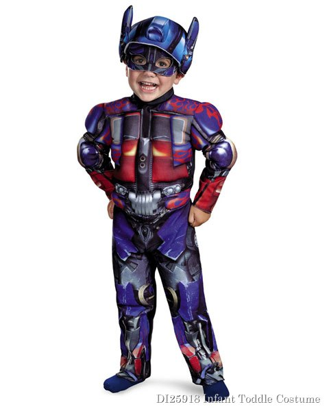 Toddler Muscle Transformers Movie 3 Optimus Costume
