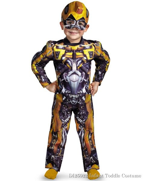 Toddler Muscle Transformers Movie 3 Bumblebee Costume