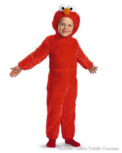 Sesame Street Infant Toddler Elmo Comfy Fur Costume