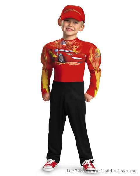 Boys Muscle Disney Cars 2 Lightning Mcqueen Costume