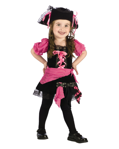 Pink Punk Pirate Costume for Toddler