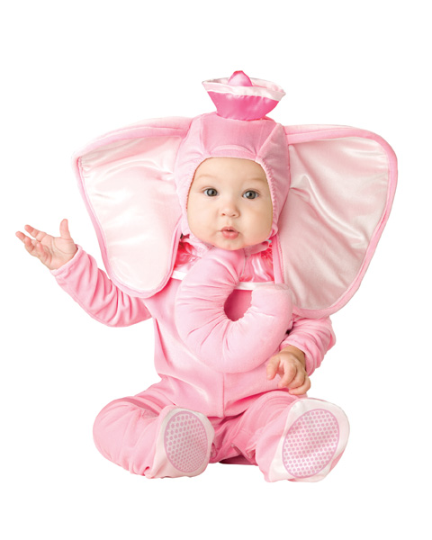 Toddlers Pink Elephant Costume