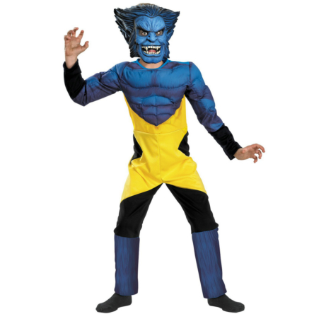X-Men Marvel Beast Muscle Deluxe Child Costume