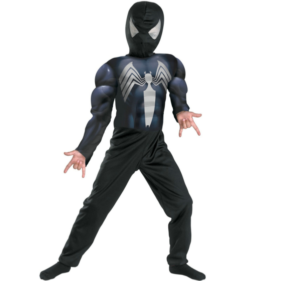 The Amazing Spider-Man Black-Suited Spider-Man Muscle Chest Child Costume