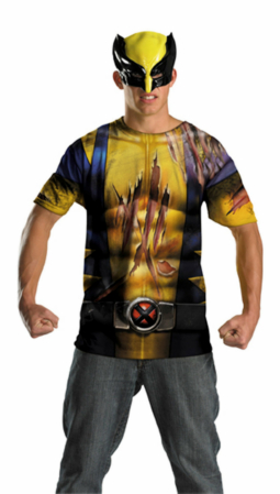 Wolverine Mask and T-Shirt Costume Set - Tween