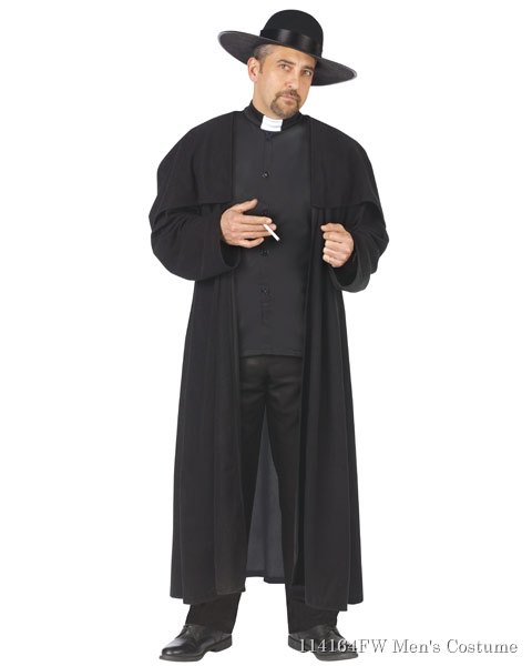 Piazza Priest Mens Costume