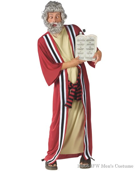 Moses And 10 Party Commandments Mens Costume