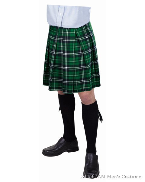 Adult Green Plaid Kilt