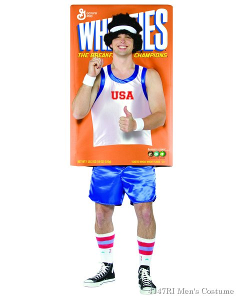 Champion On The Wheaties Box Costume For Adults