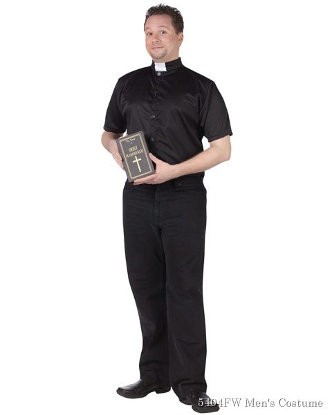 Holy Hammered Priest Mens Costume