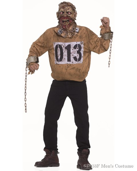 Mens Chain Gang Mask And Costume