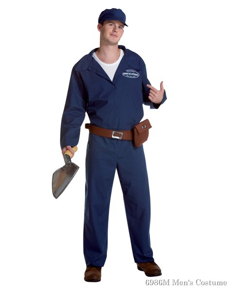 Brick Layer Costume for Adult