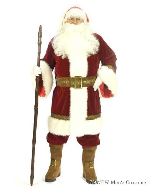 Adult Deluxe Old Time Santa Suit