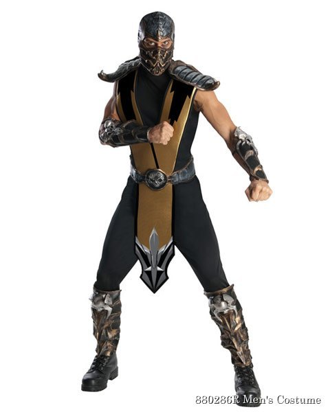 Deluxe Mortal Kombat Scorpion Mens Costume