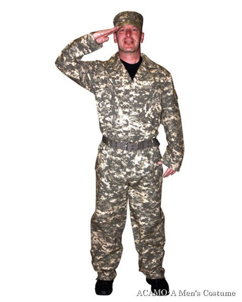 Camouflage Suit Mens Costume