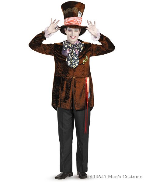Deluxe Alice In Wonderland Movie Mad Hatter Mens Costume