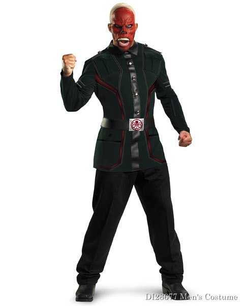 Deluxe Captain America Movie Red Skull Mens Costume