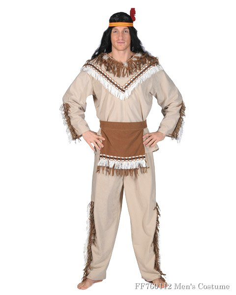 Mens Running Bear Chief Costume