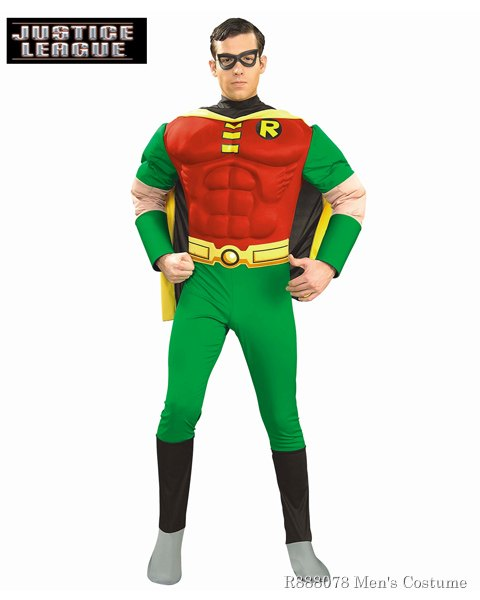 Adult Deluxe Robin Muscle Chest Costume