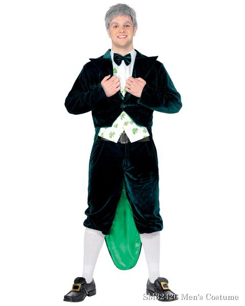 Mens Deluxe Leprechaun Adult Costume