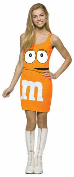 M&M Orange Tank Dress Teen Costume