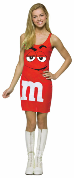 M&M Red Tank Dress Teen Costume