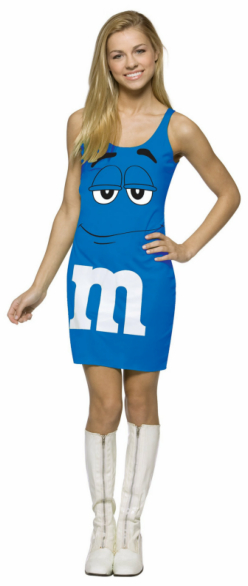 M&M Blue Tank Dress Teen Costume