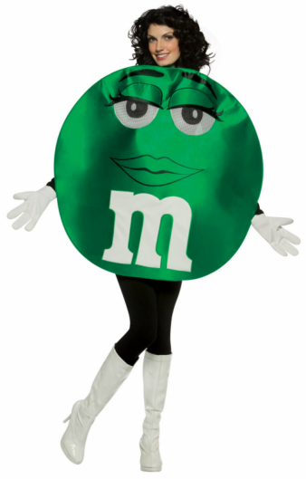 M&Ms Green Deluxe Teen Costume