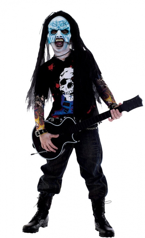 Zombie Icons Zombie Rocker Child Costume 10-12