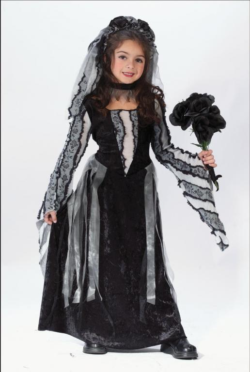 Black Rose Bride Child Costume